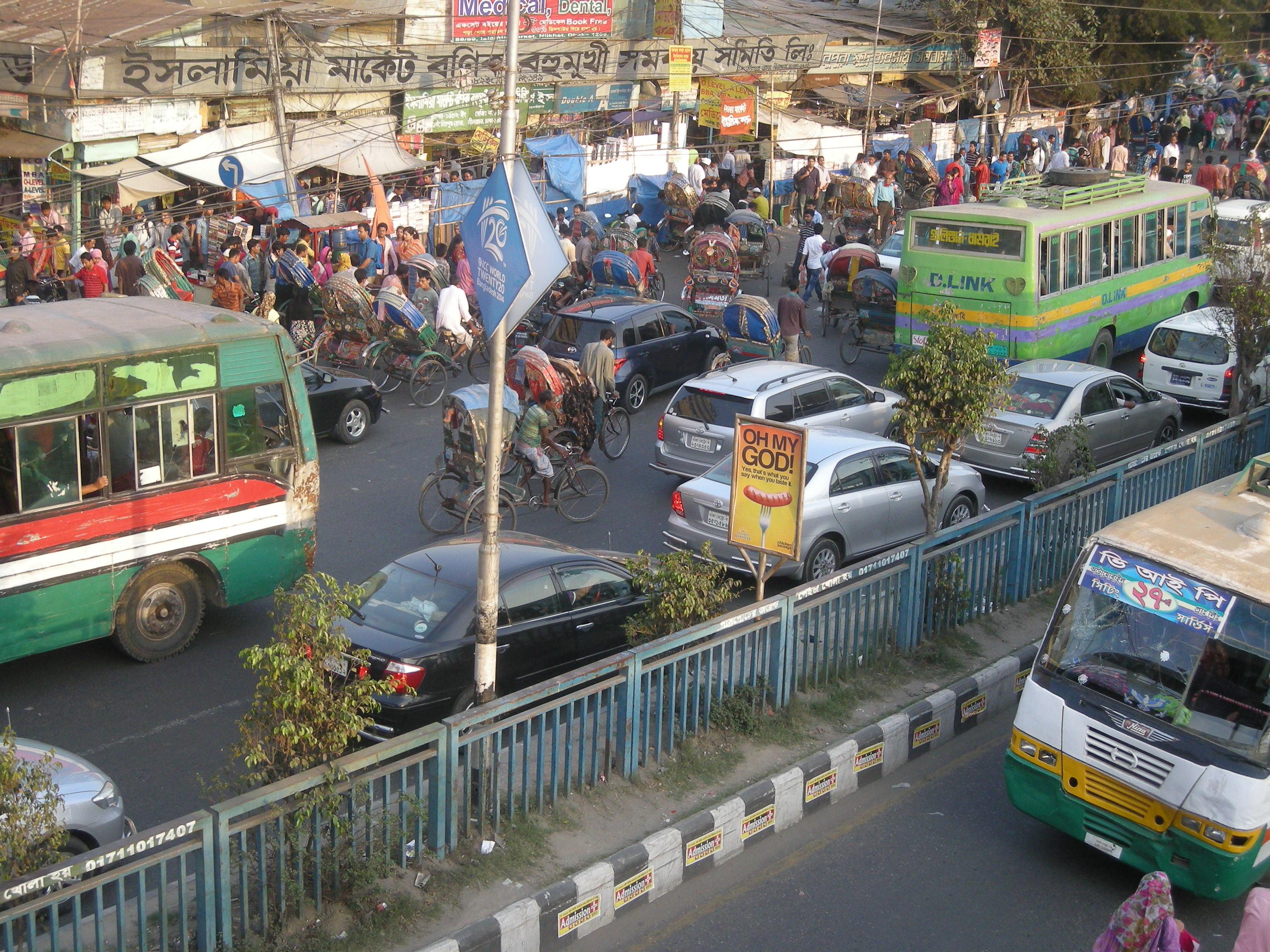 Bangladesh Dhaka rue aérienne 3